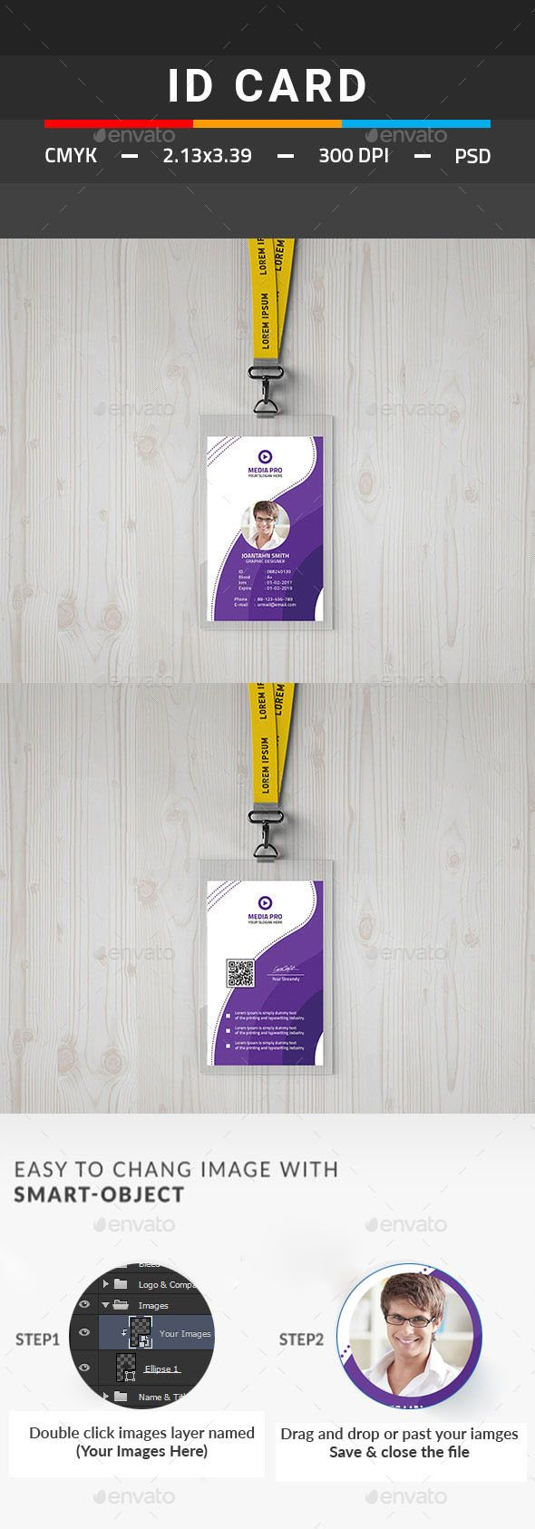 78 best ID Card Design Templates images on Pinterest | Print ...