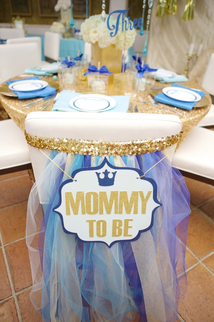 Mommy To Be Sign For Chair Back At Baby Shower Dining