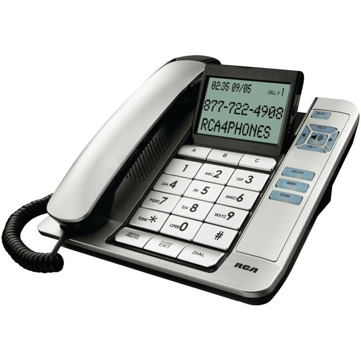 Rca Corded Desktop Phone With Caller Id (silver)