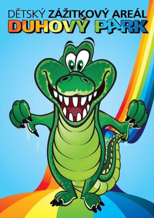 krokodýl   maskot Dětského areálu DUHOVÝ PARK