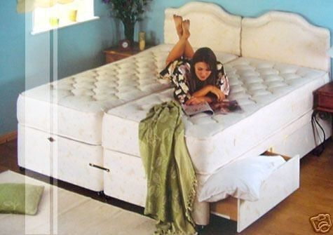 Rio 6ft Super King Size Zip Link Bed with Firm Orthopaedic Mattress