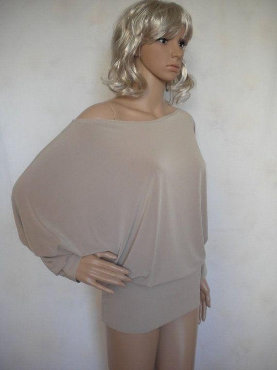 off shoulder batwing oversize loose wide top by EcoFriendlyForU