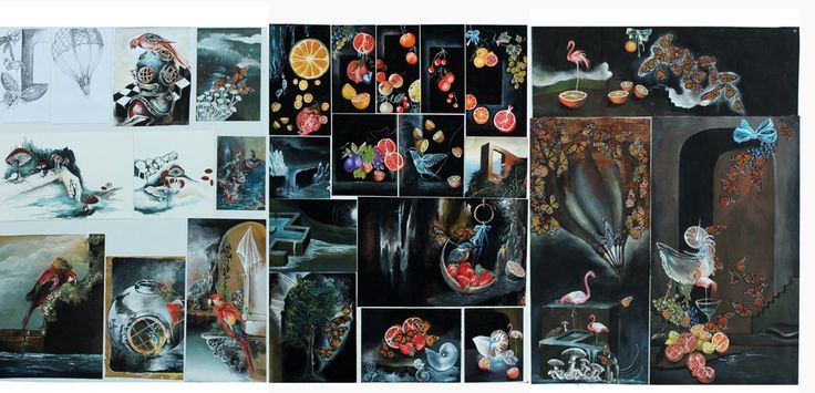 NCEA level 3 Painting Folio for 2014 by neon999 on DeviantArt
