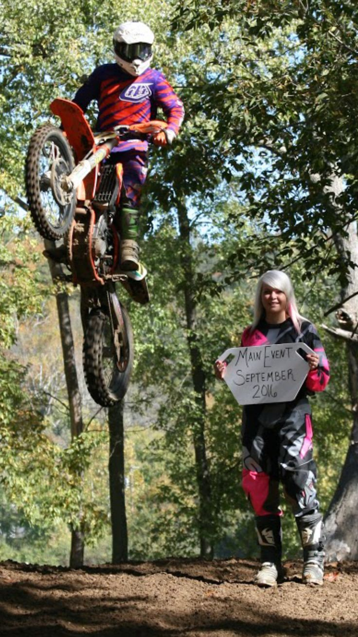 Motocross Engagement Couple