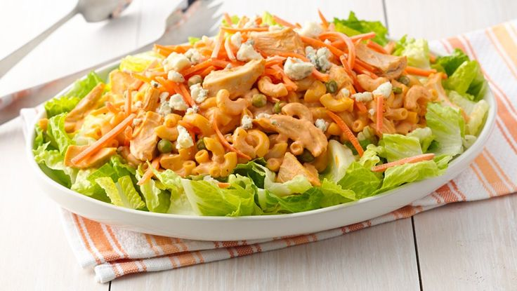 This creamy, crunchy, spicy pasta salad makes an easy, portable picnic dish or beautiful--and sturdy--potluck pleaser.