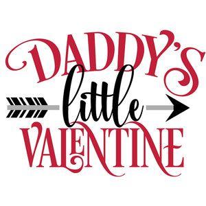999e3f4f4 Daddy's little valentine | Postcards & Prints | Silhouette design ...