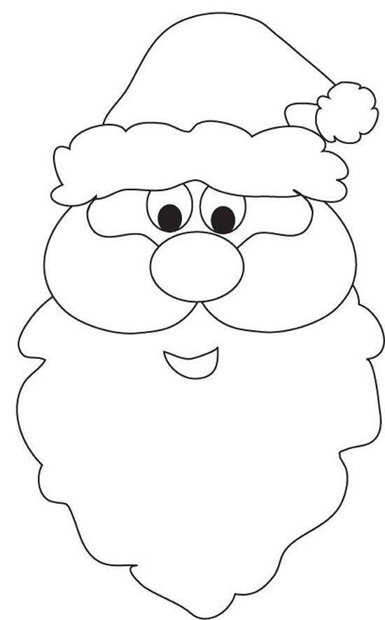 Дед мороз лицо картинка шаблон