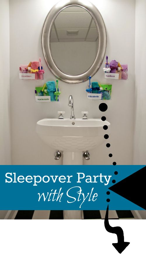 Sleepover Birthday Party Idea – Functional and Fun Favors with Command™ Brand Clear!   PartyBluPrints.com