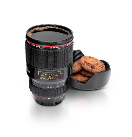Becher Kamera-Objektiv