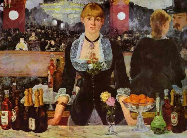 Édouard Manet -  A Bar At The Folies - Bergere,1882