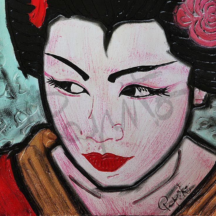 RESPECT - 40x40 cm. Acrilc on canvas #GEISHA