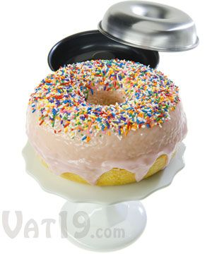 Giant Donut Cake Pan Set: Bake a cake that looks like a giant doughnut. It would make an amazing cake.
