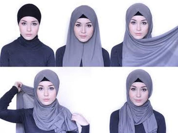 tutorial hijab pashmina simple modern