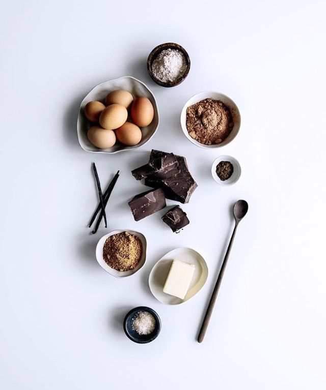 Ingredients to a chocolate cake fondant. Follow us for all things cacao and chocolate related. Www.fb.com/aschenti