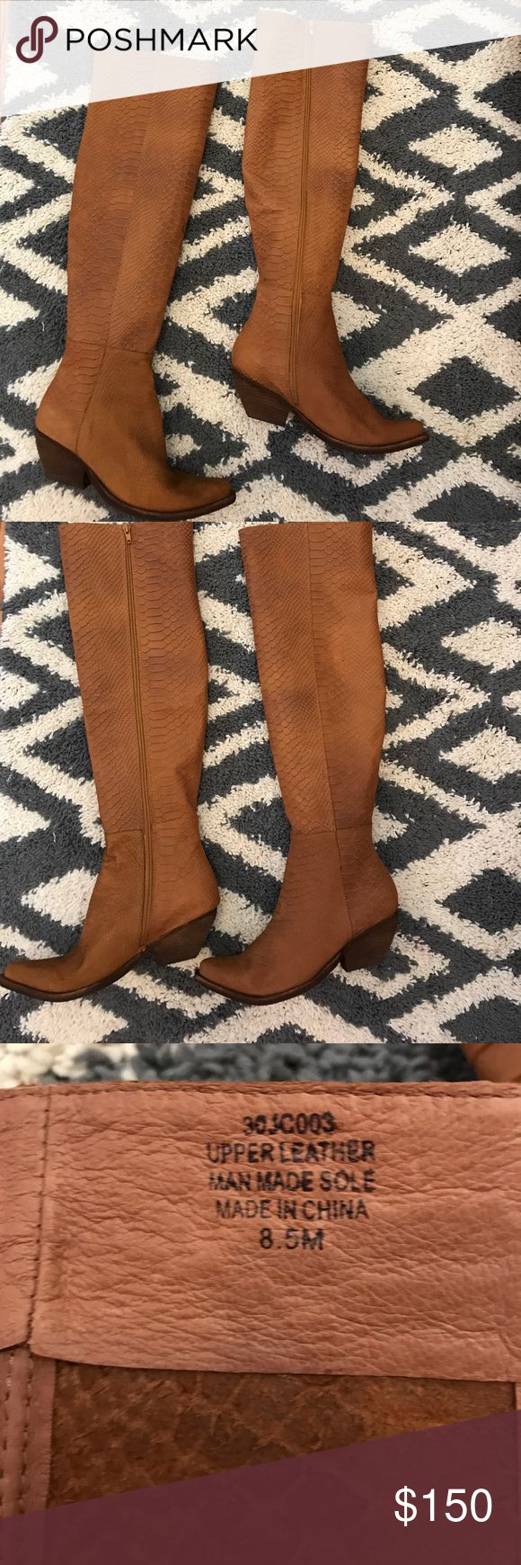 New Jeffrey Campbell cowboy boots BRAND NEW JEFFREY CAMPBELL LEATHER COWBOY BOOTS. Size 8.5. These are beautiful and super comfortable. I have them in another color and just don't need two pairs. Paid $389 Jeffrey Campbell Shoes Over the Knee Boots