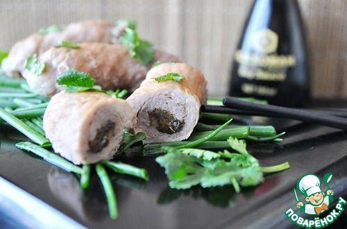 Рулетики из свинины по-японски - кулинарный рецепт