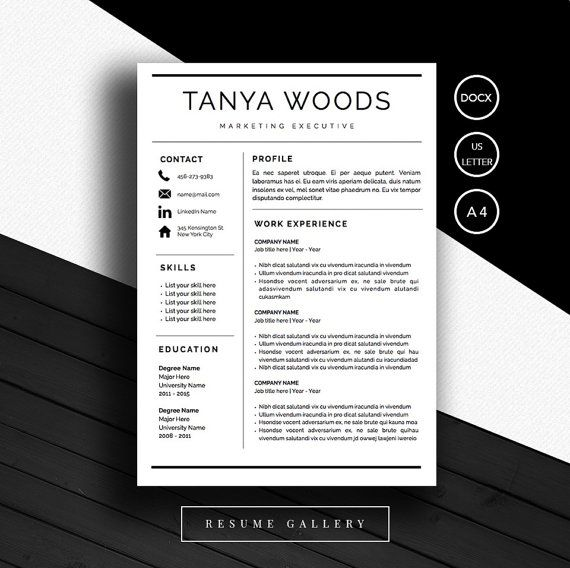 32 best Resume Templates images on Pinterest Resume templates - microsoft word resume template for mac