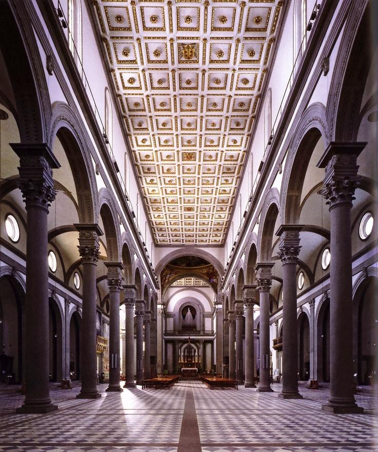 17 best images about filippo brunelleschi on pinterest for Interior iglesia san lorenzo brunelleschi