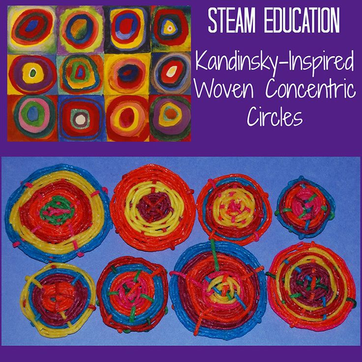 Steam Middle School Home: STEAM Activity For Kids: Kandinsky's Concentric Circles