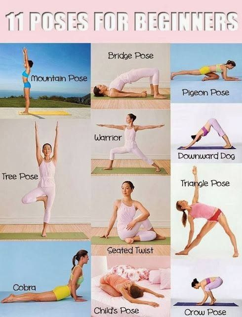 Simple #Yoga Poses for Beginners This can also help in losing belly fat, and helps in elimination of stress and anxiety -- SHARE this to friends!
