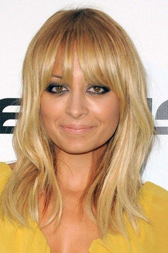 Nicole Richie's soft fringe is too cute.