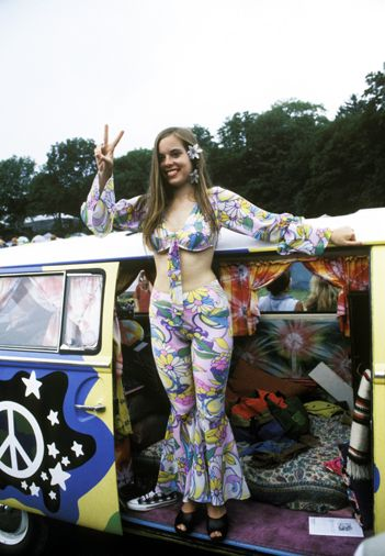 An expression of the peaceful generation at Woodstock