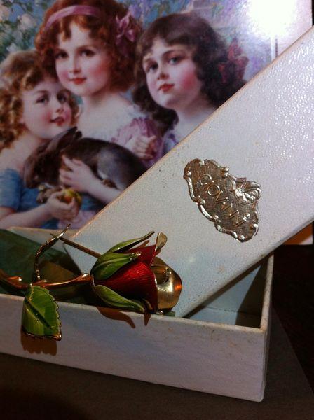 Vintage Designer Signed Roses
