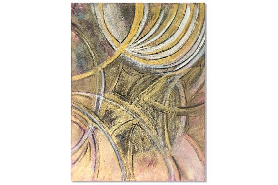 Fine art Modern Art Abstract Painting Gold by CorneliaArtwork
