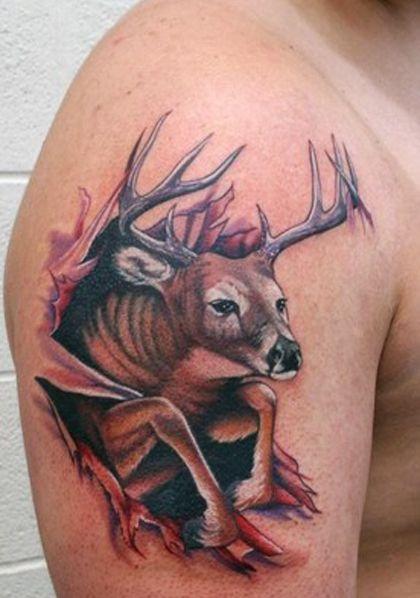 Deer Tattoos Pics