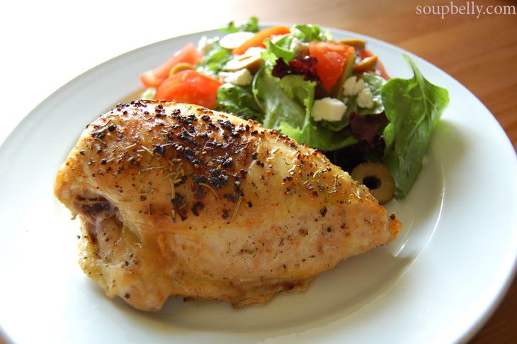 The Easiest Roast Chicken for One, Ever. | Noms - Chicken | Pinterest