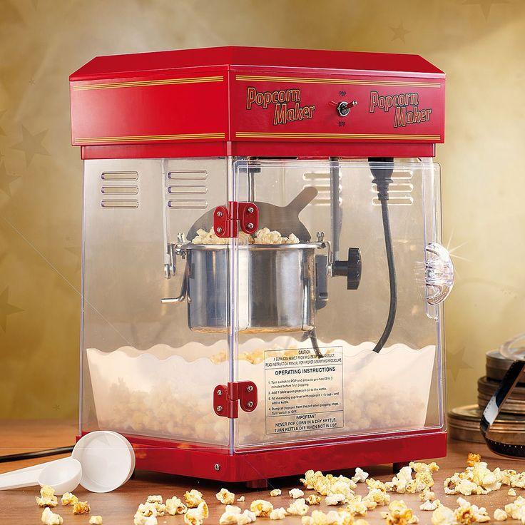 """Rosenstein & Söhne Popcornmaschine: Profi-Popcorn-Maschine """"Cinema"""" mit Edelstahl-Topf (Popcorn machine)"""