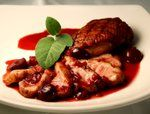 Pan-Seared Duck Breast with Keemun and Cherry Sauce