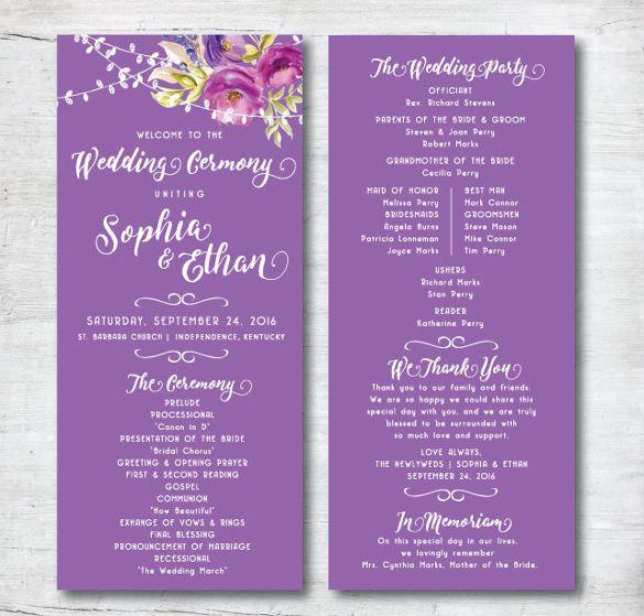 Wedding Program Ideas Templates: 25+ Best Ideas About Wedding Program Templates On