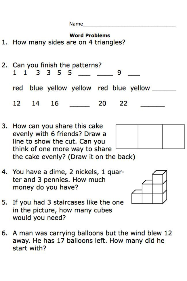 Free Printable Math Word Problem Worksheets