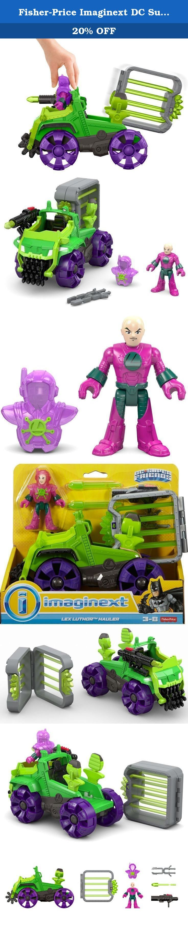 Fisher-Price Imaginext DC Super Friends Lex Corp. Hauler. The evil Lex Luthor knows the one weakness of Superman. So he built the Lex Hauler with a Kryptonite blaster to sap Superman's strength and a Kryptonite cage to trap the Man of Steel! Once he's captured, kids can lock the cage in the toy truck to transport him to Lex Luthor's hideout - and then turn the Power Pad to eject the cage when he's arrived. (Superman figure sold separately.)Is this truly the end of Superman? Kids use their...