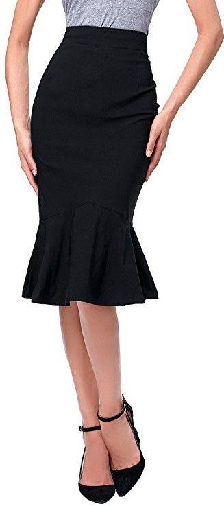 1e61ce2b36ed Kate Kasin Womens Wear To Work Stretchy Pencil Skirts Women High ...