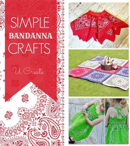 Lots of simple bandanna tutorials including clothing, decor, and more!