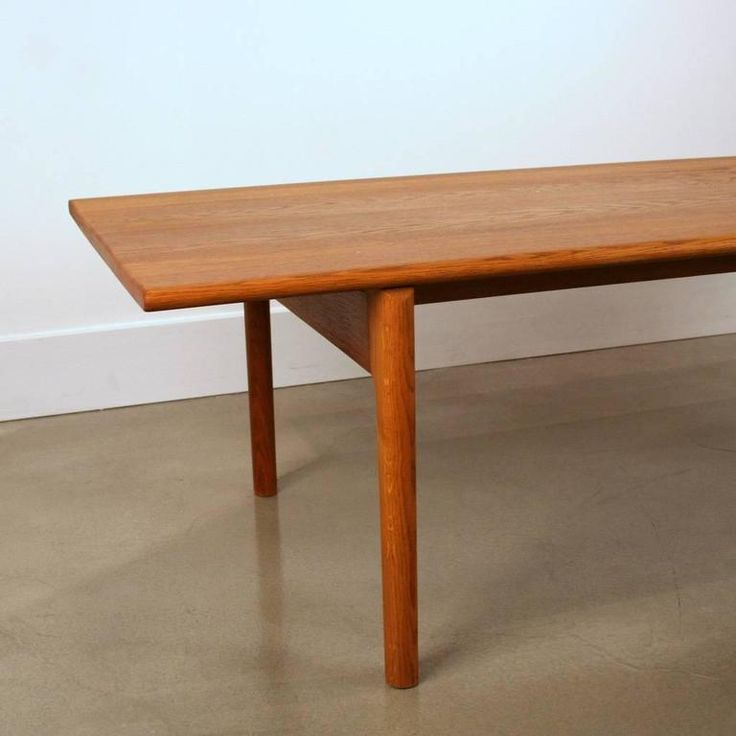 Vintage Danish Oak Coffee Table Model AT-15 by Hans Wegner 3