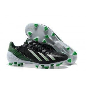 Lionel Messi Adidas F50 Adizero TRX FG SYN TPU Crampons Noir Vert Blanc