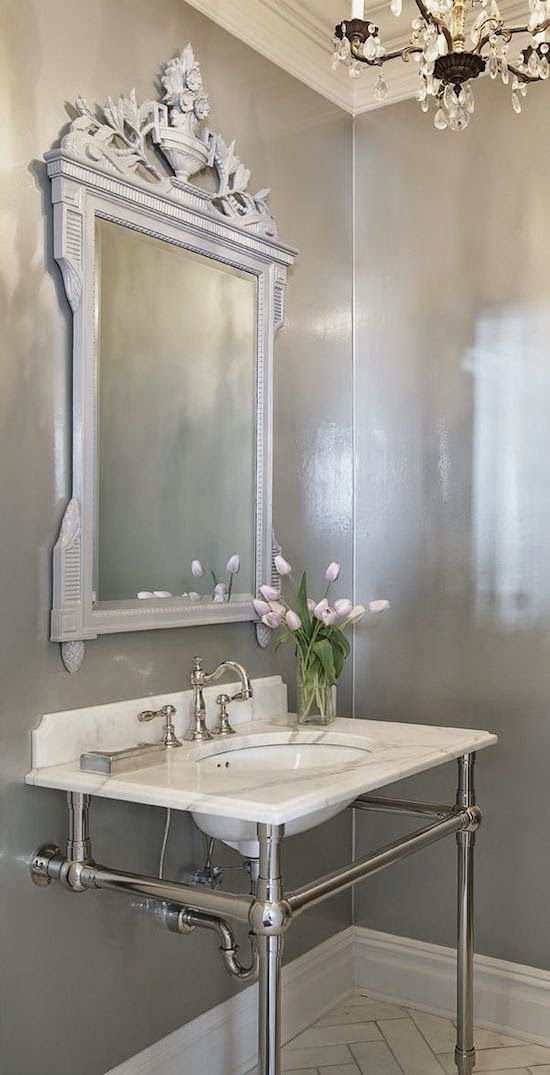 Best 144 Best Beautiful Powder Rooms Images On Pinterest 400 x 300