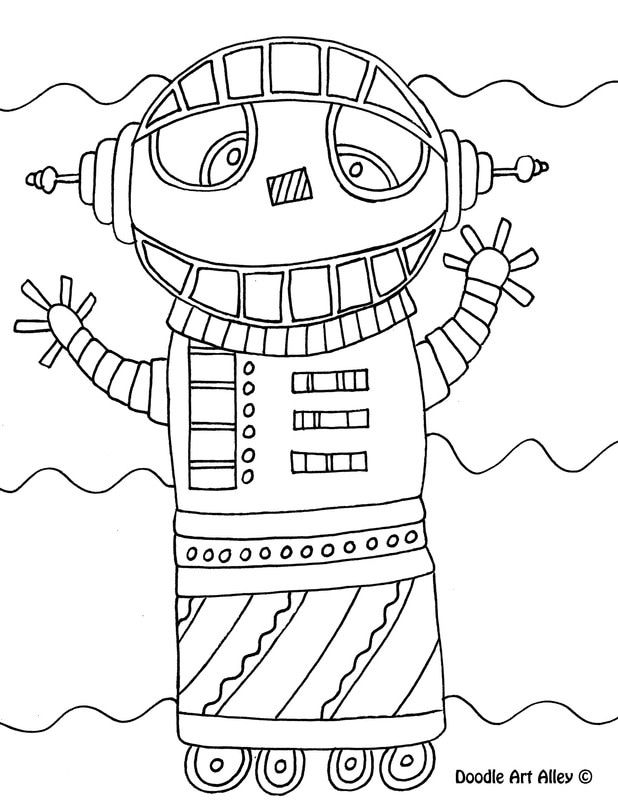 preschool robot coloring pages - photo#41