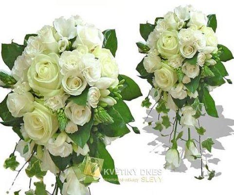 Svatební kytice převislá Květiny online - květinářství Praha Pankrác - netradiční kytice, dárky pro muže, dárkové koše