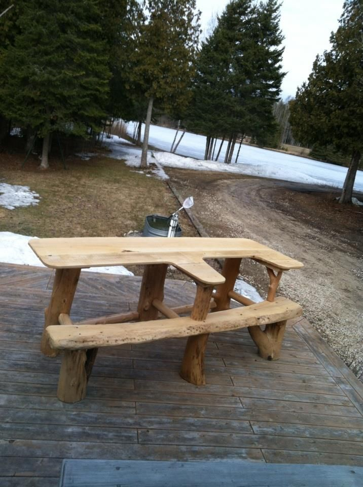 Husband and I built a new shooting bench, lets adults sit ...