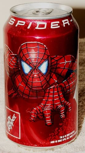 Spiderman Movie 2002 Dr Pepper Collector Can