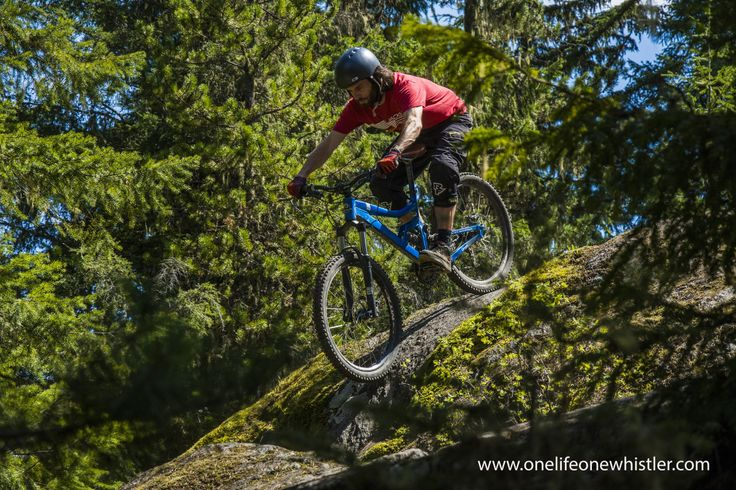 A gorgeous day riding the XC trails around Whistler.  This shot was taken in 'Cut Yer Bars' Check out http://www.onelifeonewhistler.com/cut-yer-bars/ for more pics