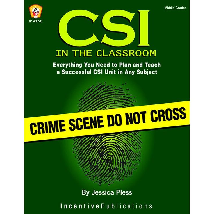 Motivate learning in your classroom with excitement about crime scene investigation. CSI in the Classroom is a step-by-step handbook that shows you how to plan a smashing CSI unit for ANY SUBJECT AREA