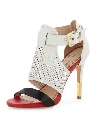 Selena Colorblock Pump, White/Red/Navy by Pour la Victoire at Neiman Marcus