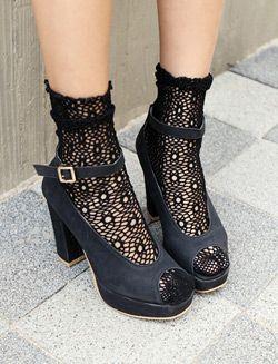 cute mesh ankle socks