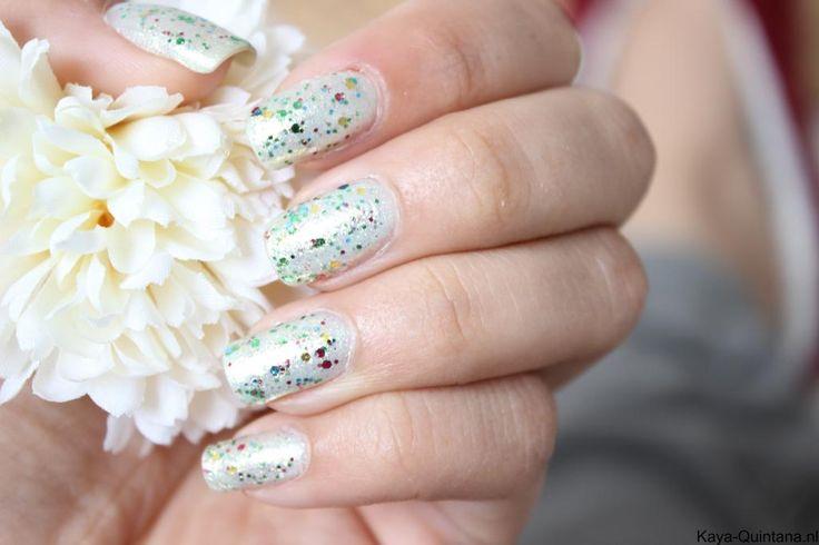 gouden glitter nagellak