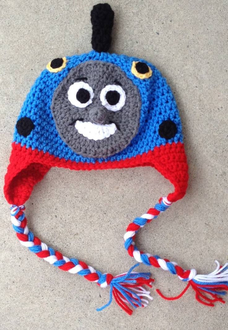 Thomas The Train Crochet Hat    https://www.etsy.com/listing/120139760/custom-girl-or-boy-thomas-the-train